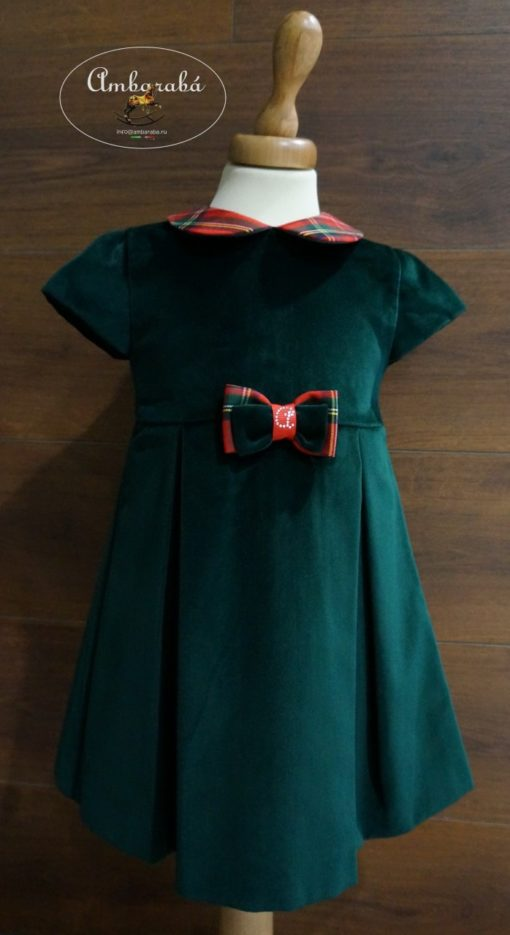 платье для девочек зеленое
