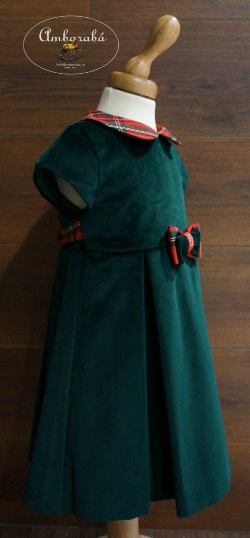 зеленое платье +для девочки